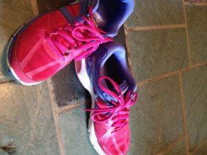 My very worn sneakers...so pretty!