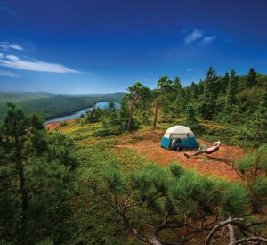 Overlooking Lake of the Clouds in Michigan's Porcupine Mountains
