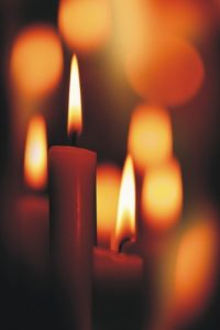 At sundown we light candles to usher in the magical separation between mundane and holy.