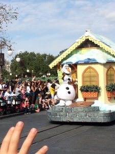 Can you see my little guy's eager hand, waving to Olaf? The sense of belief is so rich because we desperately want to.