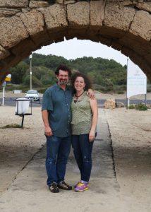 with my wonderful husband last fall in Caesaria