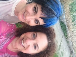 Kristi Gnyp and me, selfie, after our photo shoot last night