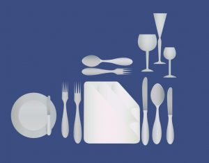 Now I know which bread plate is mine, and which glassware. Thank you, Dr. Linda Hagan!