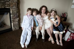 me and my kiddos, before our wedding 4 years ago