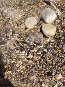The waters of Lake Huron, cool but not too cold to step into, were cleansing and holy spiritual waters.