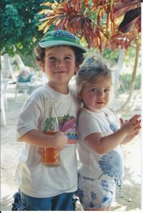 Asher and Eliana on a trip to Acapulco in 2006.
