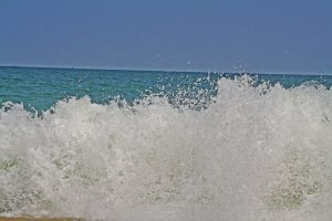 Isn't the crashing surf cleansing enough? (Photo by Lynne Golodner, Delaware 2014)