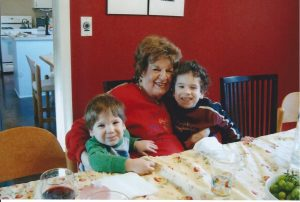 My boys with Gigi, my grandmother, in our old house.