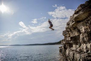 What's life worth if I can't take the chance of jumping off the cliff into the waiting waters below?