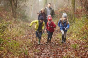 All we really need to be happy and whole is to run in the open forest path, all together as a family.