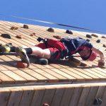 Shaya climbing