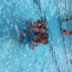 Cousins in the pool. What is more fun that that?