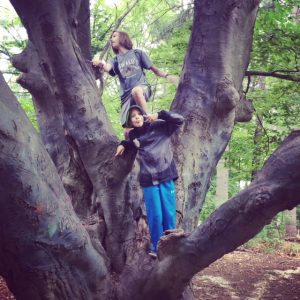 Sometimes all you need to do is climb a tree to make it a wonderful day.