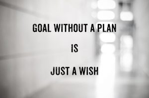 Guotation : Goal without a plan is just a wish on blur abstract