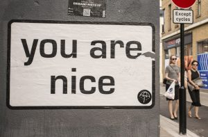 """London, UK - June 28 2015: White billboard with the words """"You a"""
