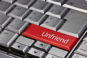 Computer key - Unfriend