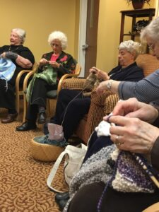 The ladies of the prayer shawl ministry last Tuesday.